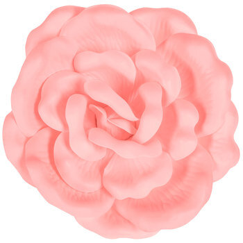 Soft Pink Flower Adhesive Wall Decor - Large