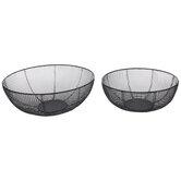 Matte Black Mesh Metal Basket Set
