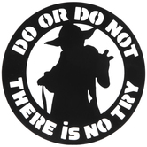 Do Or Do Not Yoda Metal Wall Decor