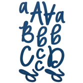 Navy Script Alphabet Stickers