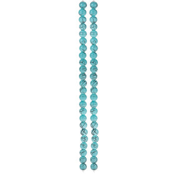 Turquoise Glass Bead Strands