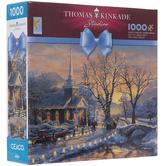 Thomas Kinkade Holiday Evening Sleigh Ride Puzzle