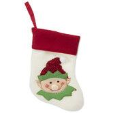 Mini White Elf Stocking