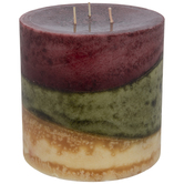 Cinnamon Spice Layered Pillar Candle