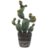 Potted Cactus Metal Wall Decor