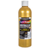 Gold Metallic Tempera Paint - 16 Ounce