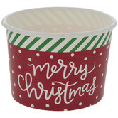 Merry Christmas Polka Dot & Striped Paper Snack Cups