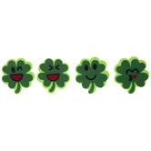 Four Leaf Clover Emoji Felt Stickers