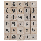 Lowercase Brush Alphabet Rubber Stamps