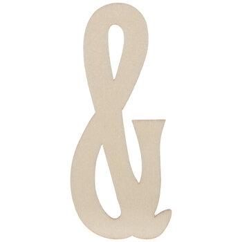 """Vintage Sign Wood Ampersands - 4"""""""