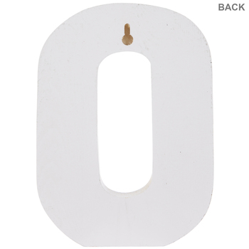 White Number Wood Wall Decor