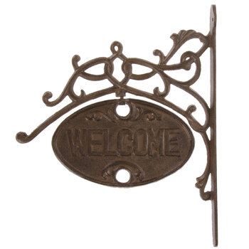 Welcome & Goodbye Swiveling Metal Wall Decor