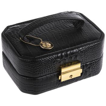Black Lizard Pattern Jewelry Case