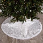 White Faux Fur Tree Skirt