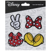 Minnie Mouse Icons Iron-On Appliques