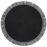 Round Placemat With Fringe