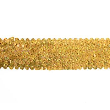 """Gold Disco Stretch Sequin Trim - 1 3/4"""""""