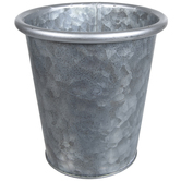 Galvanized Metal Pot With Rolled Rim