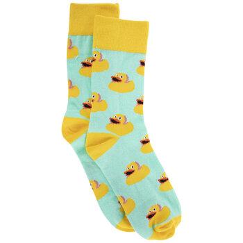 Blue & Yellow Ducks Crew Socks - Small/Medium