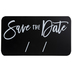 Save The Date Chalkboard Wood Decor