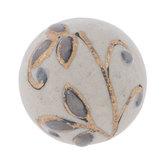 Gray Floral Swirl Knob