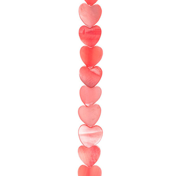 Dyed Heart Shell Bead Strand