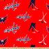NHL Washington Capitals Allover Fleece Fabric