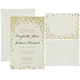 Gold Dot Wedding Invitations