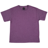 Heather Aubergine Tri-Blend Youth T-Shirt - Large