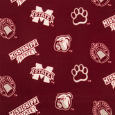 Mississippi State Allover Collegiate Fleece Fabric
