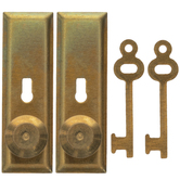 Miniature Brass Door Knobs With Keys