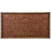 Copper Autumn Harvest Metal Wall Decor