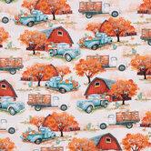 Harvest Trucks Cotton Apparel Fabric
