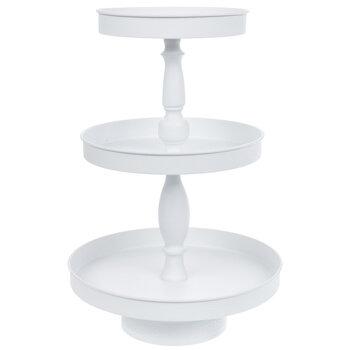 White Three Tiered Metal Tray Hobby Lobby 80922159
