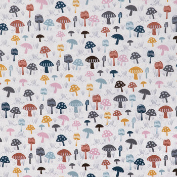 Polka Dot Mushrooms Duck Cloth Fabric