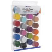 Assorted Colors Acrylic Paint Pots - 25 Piece Set