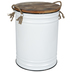 White Enameled Metal Container - Small