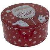 Merry Christmas Santa Round Tin Box
