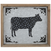 Cow Galvanized Metal Wall Decor