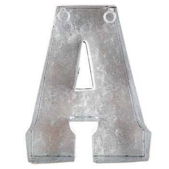 Galvanized Metal Letter Wall Decor