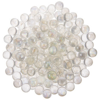 300 Clear Glass Marbles Iridescent Quality Floral or Candle Holder Fill