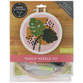 Monstera Punch Needle Kit