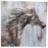 Windswept Horse Canvas Wall Decor