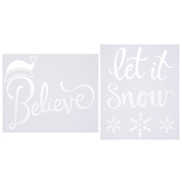 Let It Snow & Believe Stencils