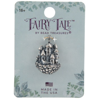 Sterling Silver Plated Floating Castle Pendant
