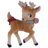 Pink Bell Reindeer Ornament