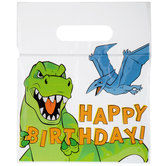 Happy Birthday Dinosaur Zipper Bags