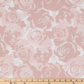 Farrah Blush Roses Duck Cloth Fabric