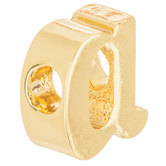 14K Gold Plated Cursive Letter Charm - A