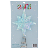 Mini Iridescent Light Blue Snowflake Tree Topper